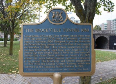 Brockville Railway Tunnel Plaque