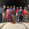 July 30, 2015 - Jack Kenny, Linda Eyre, Keith Hare, Dave LeSueur, George Smith, MP Gord Brown, Jim C